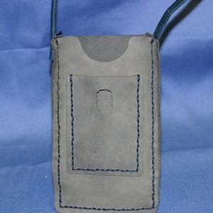 Handcrafted Blue Cell Phone Pouch